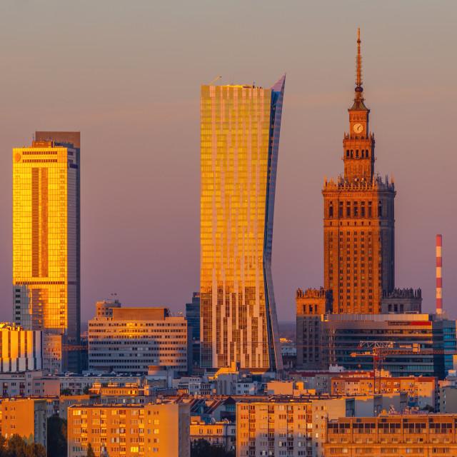 """City Center of Warsaw, Poland"" stock image"