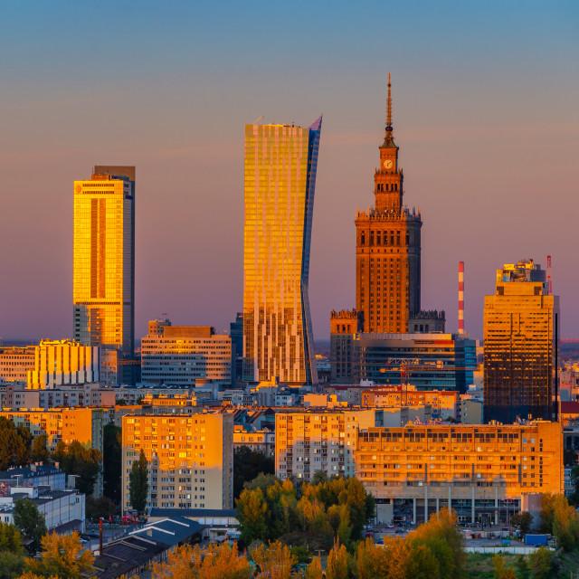 """City Center of Warsaw, Poland, Europe"" stock image"