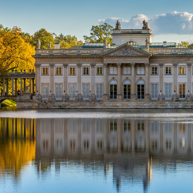 """""""Royal Lazienki Park in Warsaw, Palace on the water, Poland"""" stock image"""
