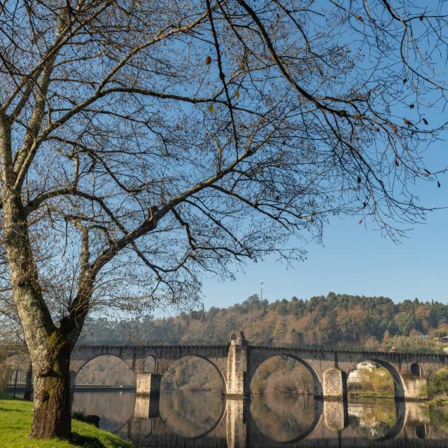 """Bridge of Ponte da Barca"" stock image"
