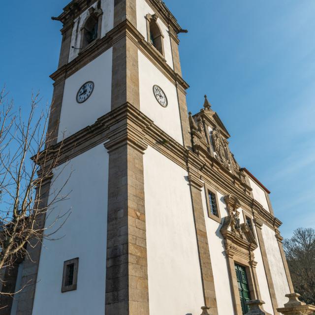"""""""Church of Sao Joao Baptista"""" stock image"""