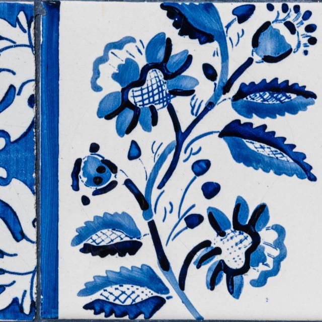 """Traditional Portuguese glazed tiles"" stock image"