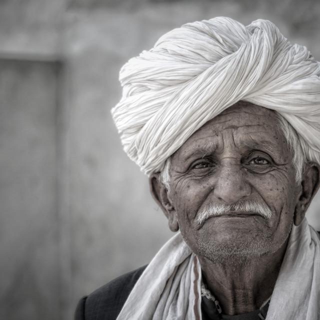 """Bishnoi Elder"" stock image"