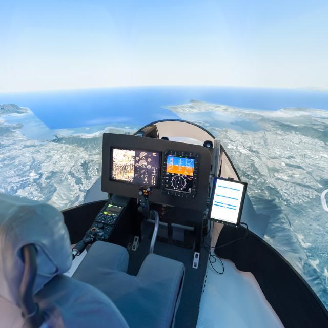 """helicopter flight simulator"" stock image"