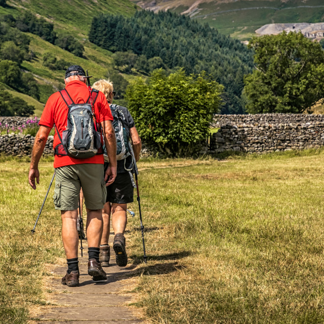 """Swaledale Walkers-1745"" stock image"