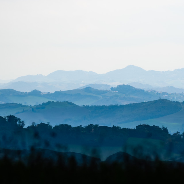 """Hills of the Montefeltro"" stock image"