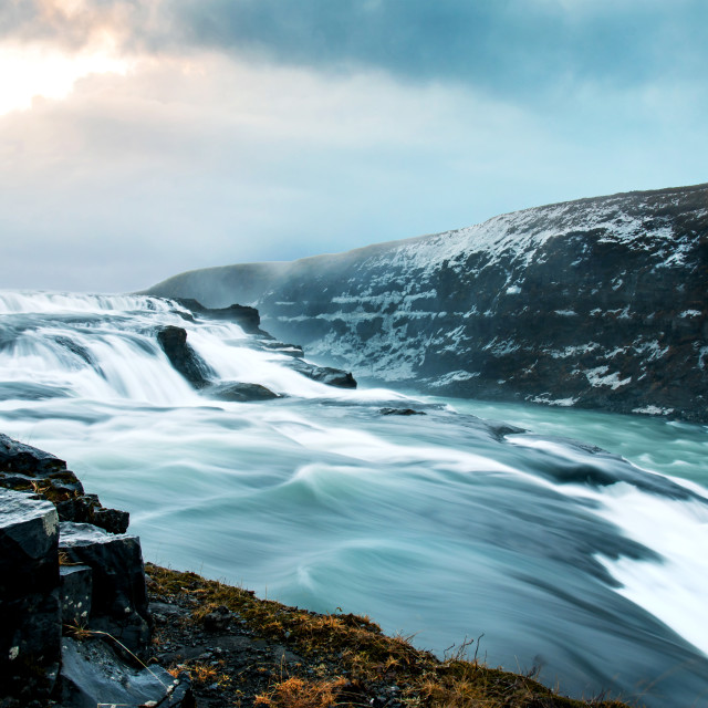 """Stunning Gullfoss Falls in Iceland on a Golden circle route"" stock image"