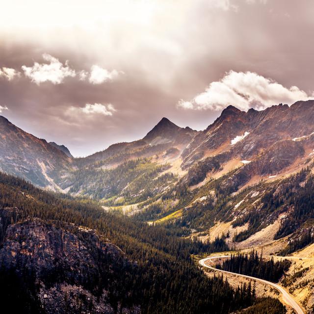 """Cascades Panorama"" stock image"