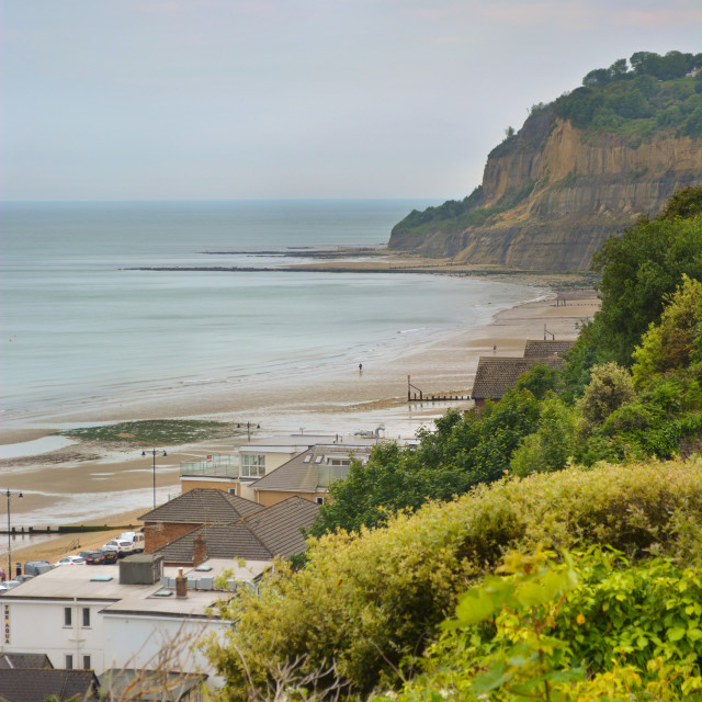 """""""View of the Bay and Cliffs at Shanklin"""" stock image"""