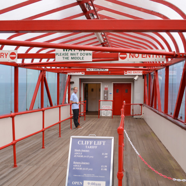 """Upper Entrance to Shanklin Lift"" stock image"