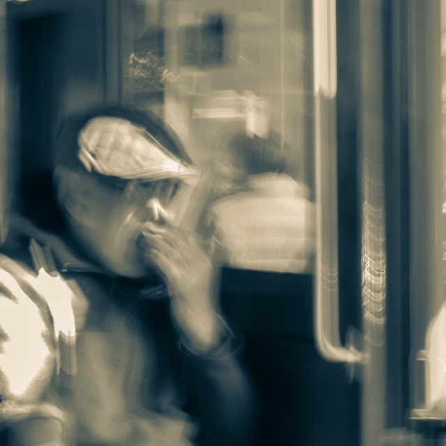 """""""The Blurring Of Life."""" stock image"""