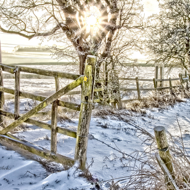 """Winter Gateway."" stock image"