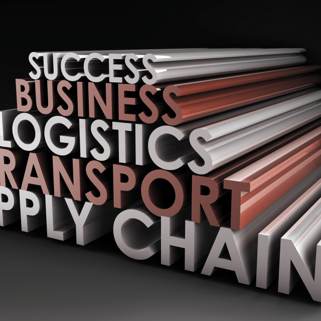 """""""Supply Chain Management"""" stock image"""