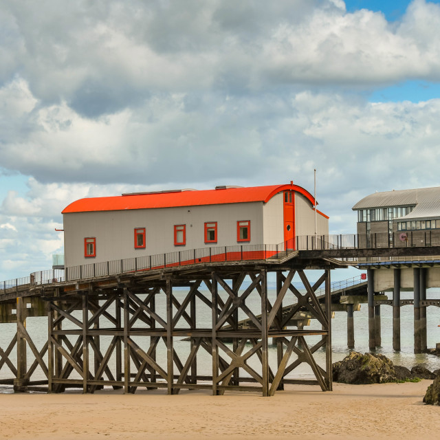 """""""The old lifeboat station in Tenby, West Wales"""" stock image"""