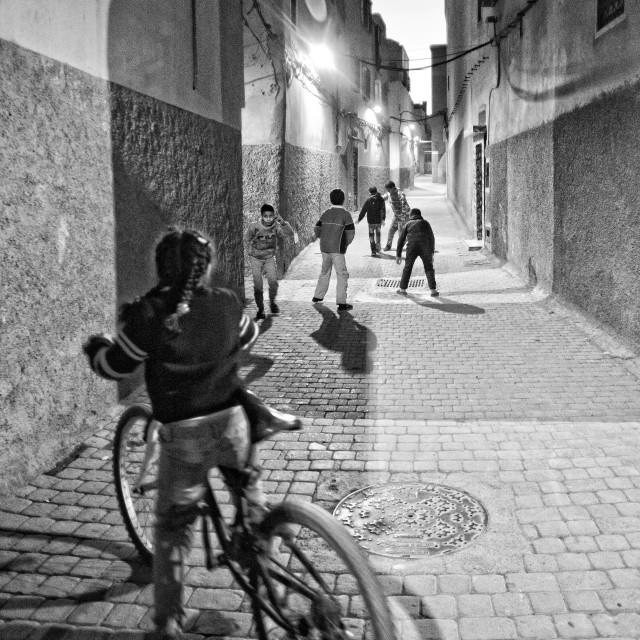 """Marrakech street life"" stock image"