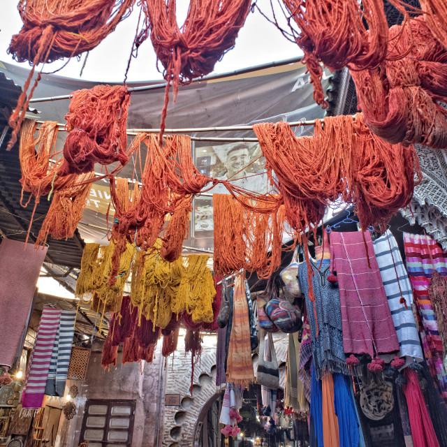"""""""Marrakech souk colours"""" stock image"""
