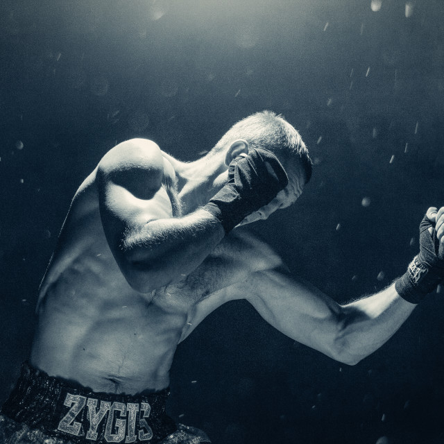 """""""Pro Boxer In Action"""" stock image"""
