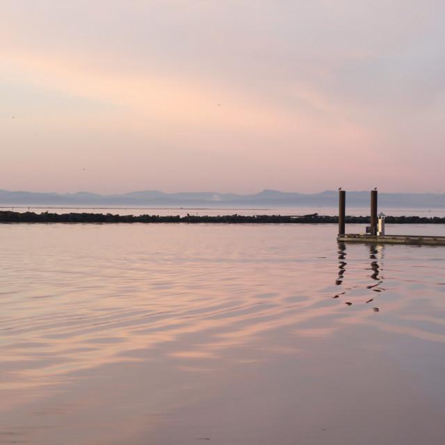 """""""Seaside dock"""" stock image"""