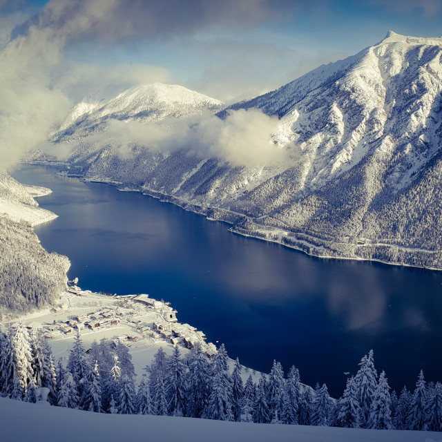 """Alpine lake"" stock image"