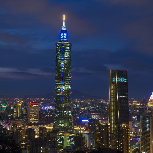 """""""Taipei, Taiwan skyline"""" stock image"""