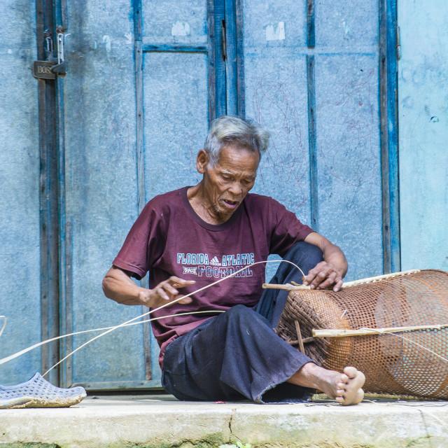 """""""Cotu ethnic minority in Vietnam"""" stock image"""