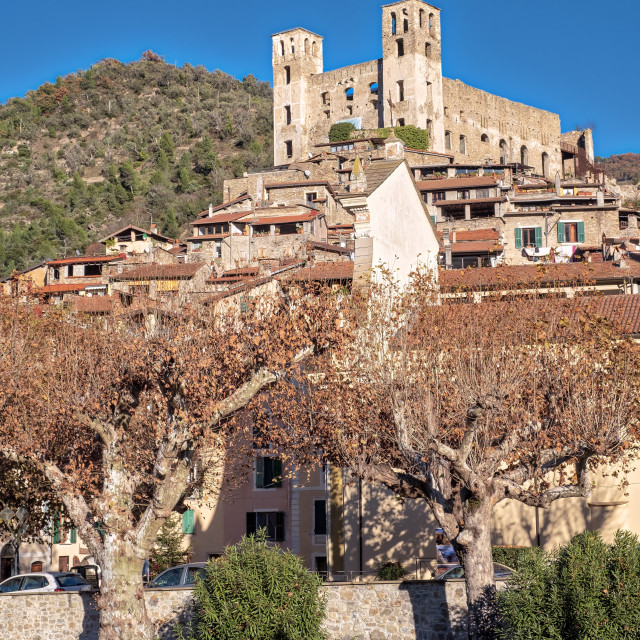 """""""Dolceacqua (ligurian Region, Northern Italy): the ancient Castle. Color image"""" stock image"""