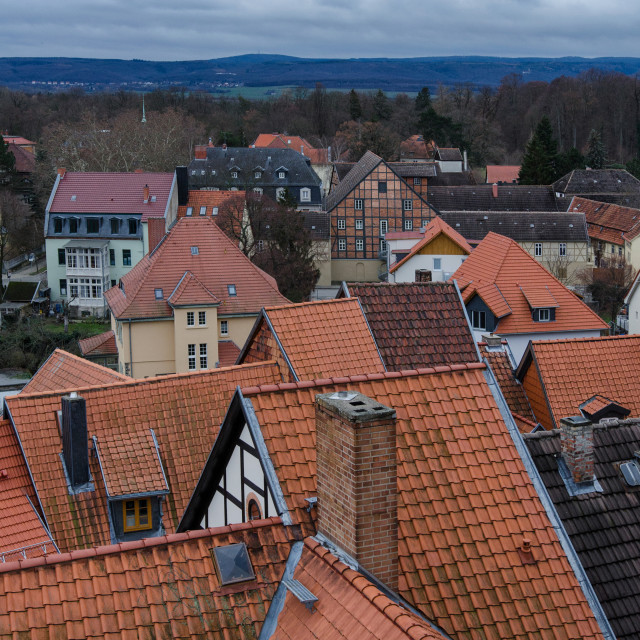 """Over The Rooftops Of Quedlinburg"" stock image"