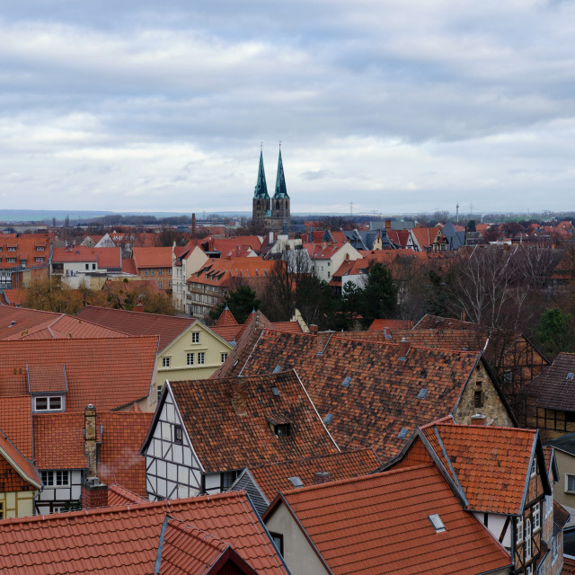 """Old Town Of Quedlinburg From Above"" stock image"