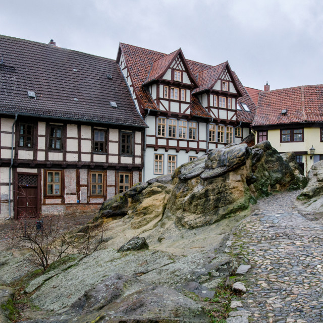 """Rocky Medieval Town Of Quedlinburg"" stock image"
