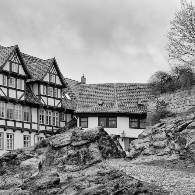 """Medieval Town Of Quedlinburg, Germany"" stock image"