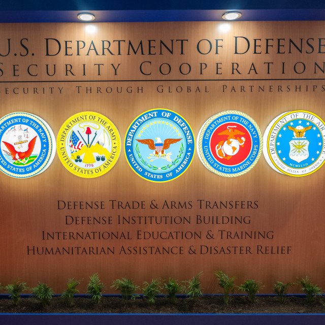 """""""US Department of Defense Security Cooperation"""" stock image"""