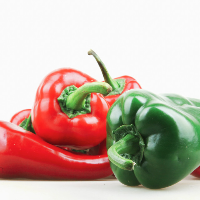 """""""Red Pepper Isolated On White Background"""" stock image"""