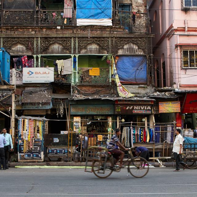 """Gandhi Road, Kolkata."" stock image"
