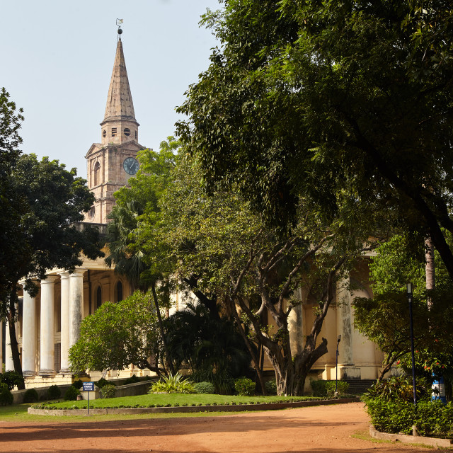 """St. John's Church, Kolkata, India."" stock image"