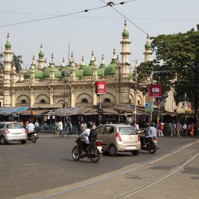 """Tipu Sultan Masjid, Kolkata, India."" stock image"