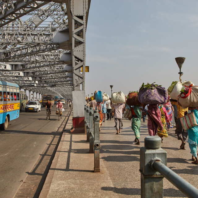"""Howrah Bridge, Kolkata, India"" stock image"