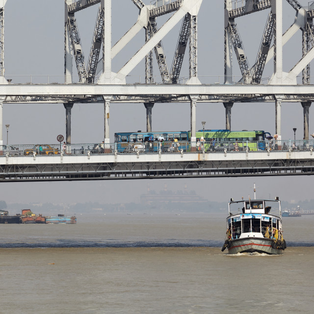 """Howrah Bridge, Kolkata, India"" stock image"