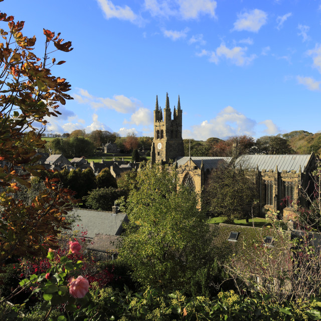 """""""Autumn view of St John the Baptist Church, known as the Cathedral of the..."""" stock image"""
