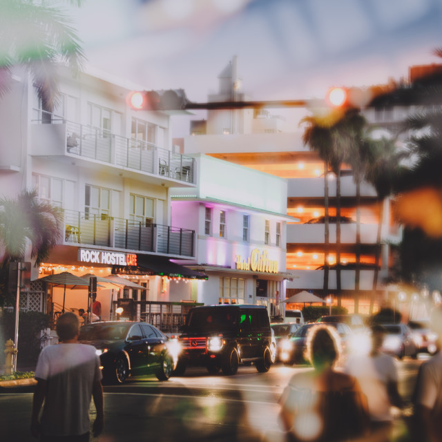 """Miami Nights"" stock image"