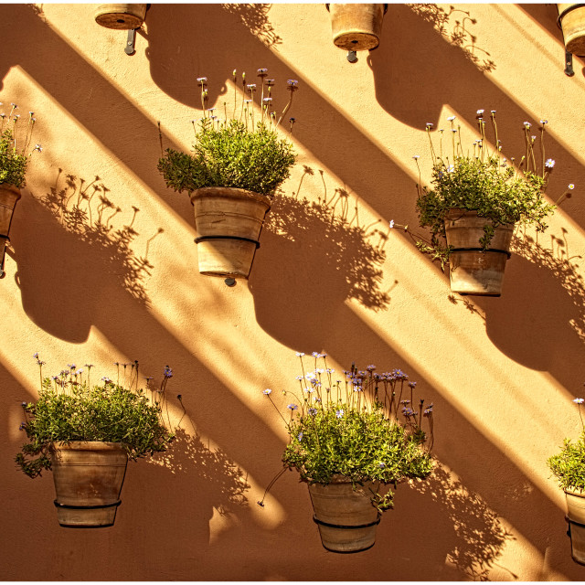 """Shadows and light - Marrakech medina"" stock image"