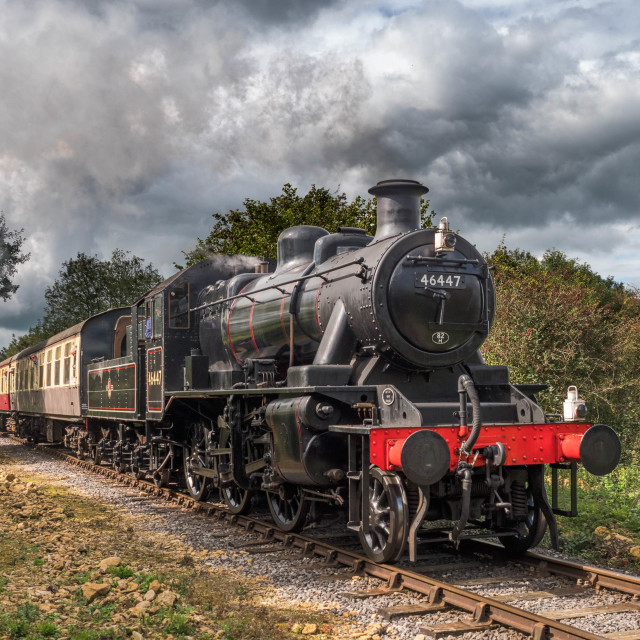 """LMS Ivatt Class 2 2-6-0 No. 46447"" stock image"