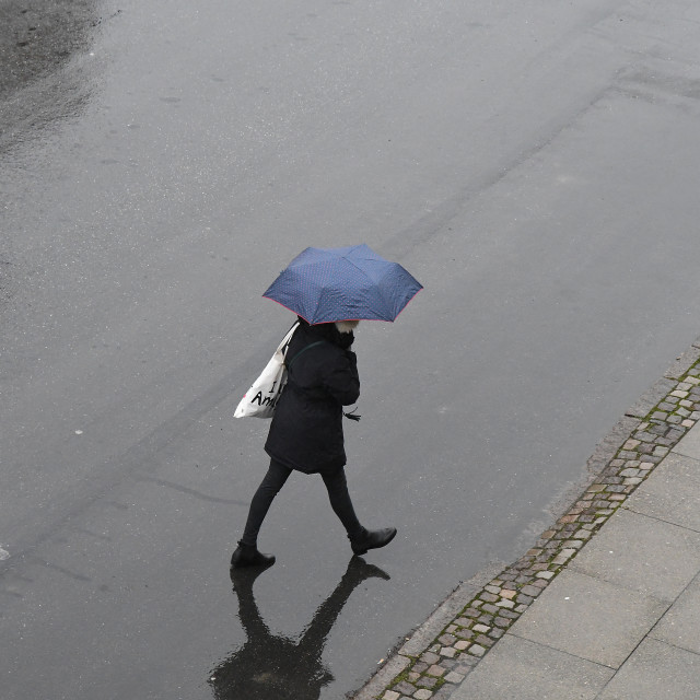 """""""WET AND RAINY DAY IN DENMARK"""" stock image"""