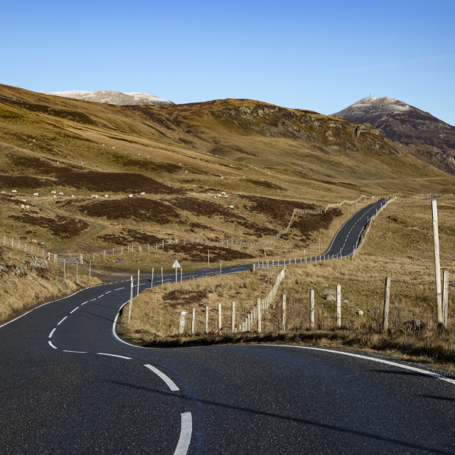 """Meandering through Scotland"" stock image"