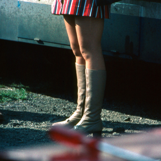 """""""Paddock Fashion - Wings and Boots"""" stock image"""