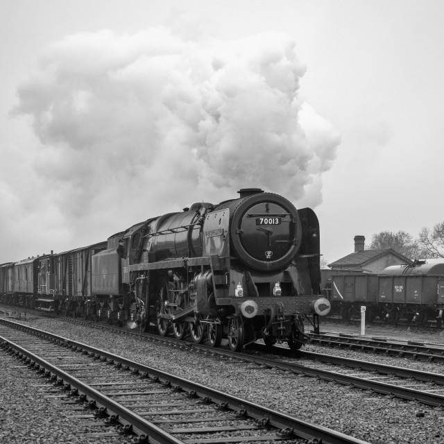 """""""BR No.70013 Oliver Cromwell"""" stock image"""