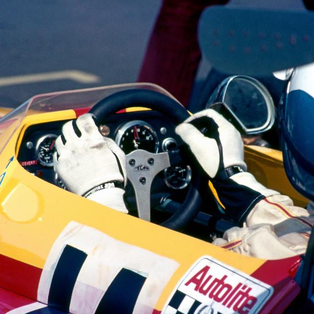 """Francois Cevert Tecno F2 Thruxton"" stock image"
