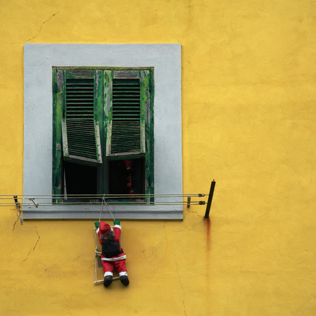 """A Santa Claus puppet"" stock image"