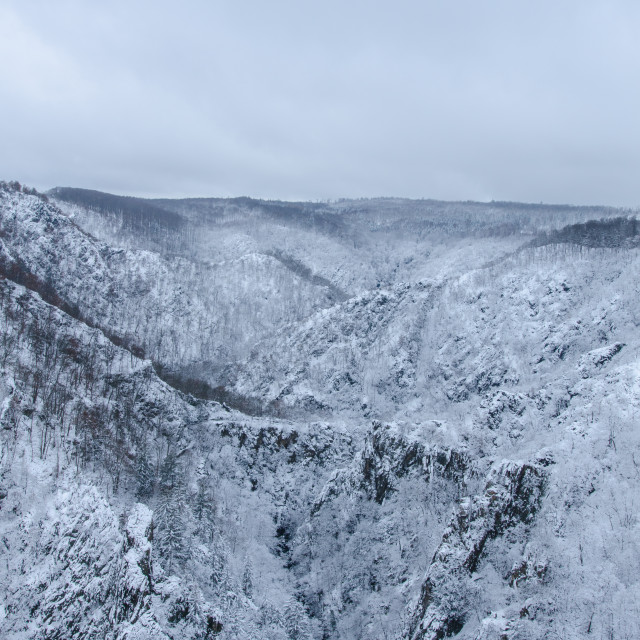 """The Bode Gorge In Harz During Winter"" stock image"