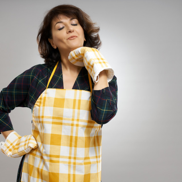"""""""Housewife ready to cook"""" stock image"""