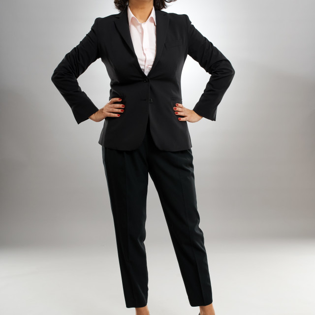 """""""Businesswoman in arms akimbo"""" stock image"""